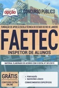 Apostila Concurso FAETEC 2019 Inspetor de Alunos PDF e Impressa