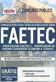 Apostila Concurso FAETEC 2019 Professor PDF e Impressa