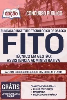 Apostila Concurso FITO 2019 Técnico em Gestão Assistência Administrativa PDF e Impressa