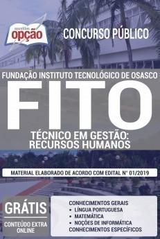 Apostila Concurso FITO 2019 Técnico em Gestão Recursos Humanos PDF e Impressa