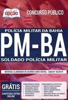 Apostila PM BA 2019 Soldado PDF e Impressa