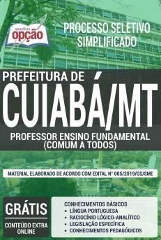 Apostila Concurso Prefeitura de Cuiabá 2019 Professor de Ensino Fundamental PDF e Impressa