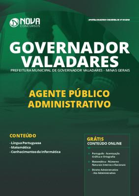 Apostila Concurso Governador Valadares 2019 Agente Público Administrativo Grátis Cursos Online