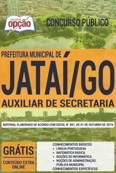 Apostila Concurso Prefeitura de Jataí 2019 Auxiliar de Secretaria PDF e Impressa