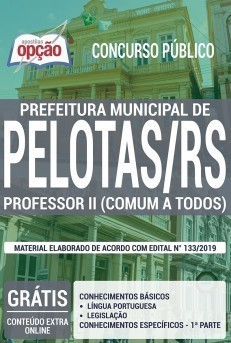 Apostila Concurso Prefeitura de Pelotas 2019 Professor II PDF e Impressa