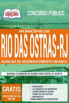 Apostila Concurso Prefeitura de Rio das Ostras 2019 Auxiliar de Desenvolvimento Infantil PDF e Impressa