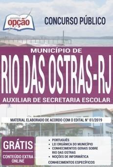 Apostila Concurso Prefeitura de Rio das Ostras 2019 Auxiliar de Secretaria Escolar PDF e Impressa