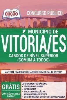 Apostila Concurso Prefeitura de Vitória 2019 Cargos de Nível Superior PDF e Impressa