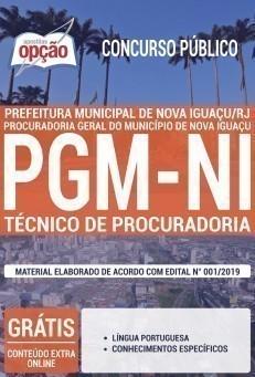 Apostila Concurso Prefeitura de Nova Iguaçu 2019 Técnico de Procuradoria PDF e Impressa