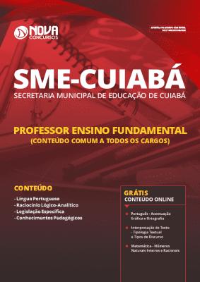 Apostila Concurso SME Cuiabá 2019 Professor de Ensino Fundamental Grátis Cursos Online