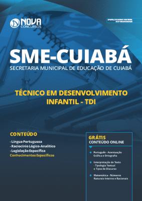 Apostila Prefeitura de Cuiabá 2019 Técnico em Desenvolvimento Infantil Grátis Cursos Online