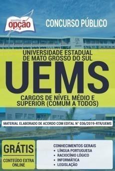 Apostila Concurso UEMS 2019 Cargos de Nível Médio e Superior PDF e Impressa