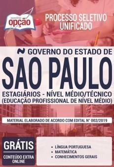 Apostila Estágio Nível Médio e Técnico do Governo do Estado de São Paulo