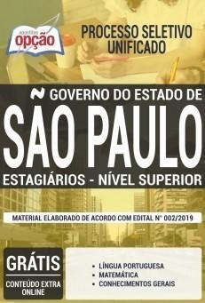 Apostila Estágio Nível Superior do Governo do Estado de São Paulo 2019 PDF e Impressa