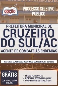 Apostila Prefeitura de Cruzeiro do Sul 2019 Agente de Combate às Endemias PDF e Impressa