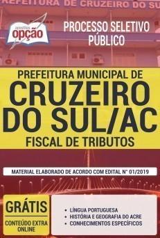 Apostila Prefeitura de Cruzeiro do Sul 2019 Fiscal de Tributos PDF e Impressa