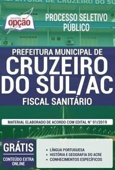 Apostila Prefeitura de Cruzeiro do Sul 2019 Fiscal Sanitário PDF e Impressa