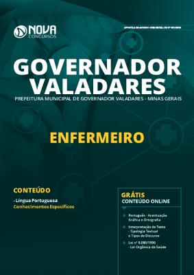 Apostila Prefeitura de Governador Valadares 2019 Enfermeiro Grátis Cursos Online