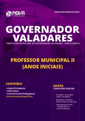 Apostila Prefeitura de Governador Valadares 2019 Professor Anos Iniciais Grátis Cursos Online