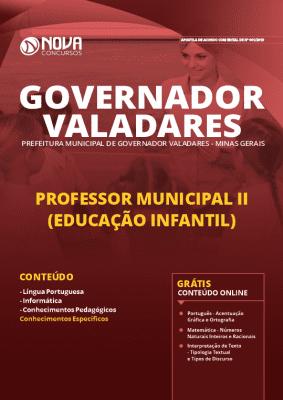 Apostila Prefeitura de Governador Valadares 2019 Professor de Educação Infantil Grátis Cursos Online