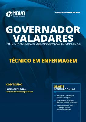 Apostila Prefeitura de Governador Valadares 2019 Técnico em Enfermagem Grátis Cursos Online