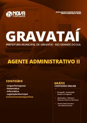 Apostila Prefeitura de Gravataí 2019 Agente Administrativo Grátis Cursos Online