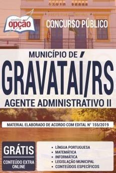 Apostila Concurso Prefeitura de Gravataí 2019 Agente Administrativo PDF e Impressa