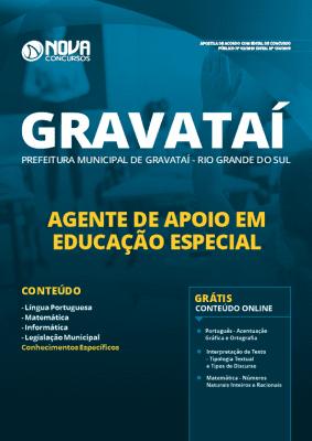 Apostila Prefeitura de Gravataí 2019 Agente de Apoio em Educação Especial Grátis Cursos Online