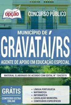 Apostila Concurso Prefeitura de Gravataí 2019 Agente de Apoio em Educação Especial PDF e Impressa