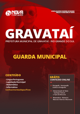 Apostila Prefeitura de Gravataí 2019 Guarda Municipal Grátis Cursos Online