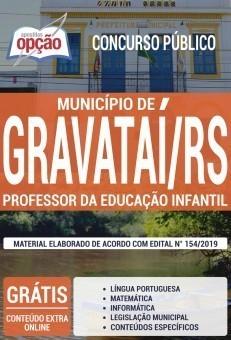 Apostila Concurso Prefeitura de Gravataí 2019 Professor da Educação Infantil PDF e Impressa