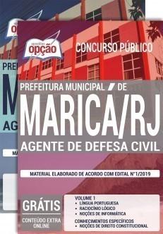 Apostila Concurso Prefeitura de Maricá 2019 Agente de Defesa Civil PDF e Impressa