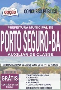 Apostila Prefeitura de Porto Seguro 2019 Auxiliar de Classe