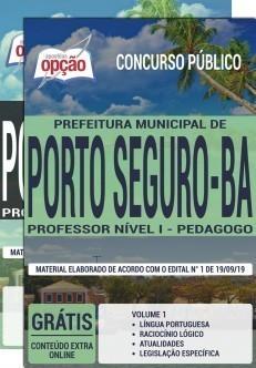 Apostila Prefeitura de Porto Seguro 2019 Professor Pedagogo PDF e Impressa