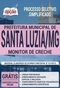 Apostila Concurso Prefeitura de Santa Luzia 2019 Monitor de Creche PDF e Impressa