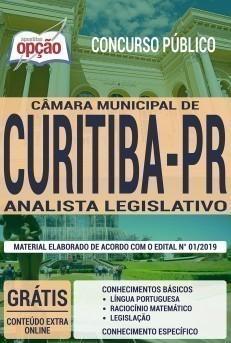 Apostila Concurso Câmara de Curitiba 2019 Analista Legislativo PDF e Impressa