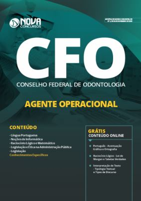 Apostila Concurso CFO 2019 Agente Operacional Grátis Cursos Online
