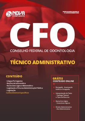 Apostila Concurso CFO 2019 Técnico Administrativo Grátis Cursos Online