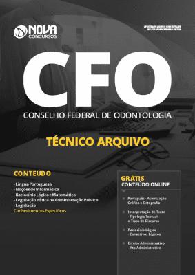 Apostila Concurso CFO 2019 Técnico Arquivo Grátis Cursos Online