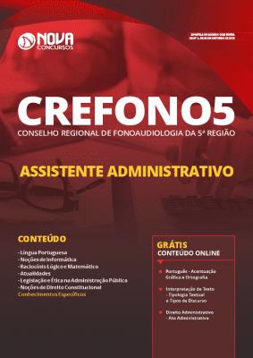 Apostila Concurso CREFONO 5ª Região 2019 Assistente Administrativo Grátis Cursos Online