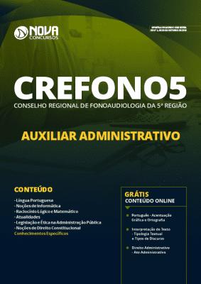 Apostila Concurso CREFONO 5ª Região 2019 Auxiliar Administrativo Grátis Cursos Online