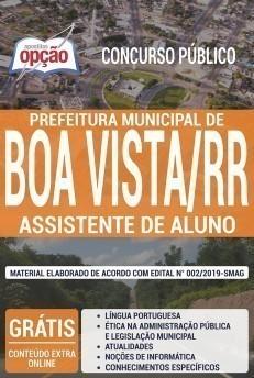 Apostila Concurso Prefeitura de Boa Vista 2020 Assistente de Alunos