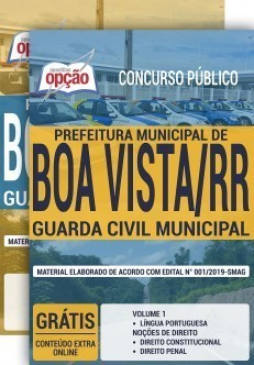 Apostila Concurso Prefeitura de Boa Vista 2019 Guarda Municipal