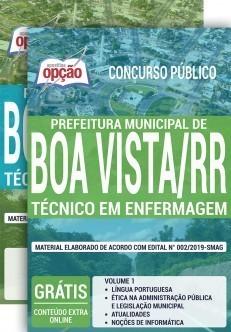 Apostila Prefeitura de Boa Vista 2020 Técnico em Enfermagem