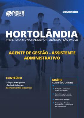 Apostila Concurso Prefeitura de Hortolândia 2019 Assistente Administrativo Grátis Cursos Online