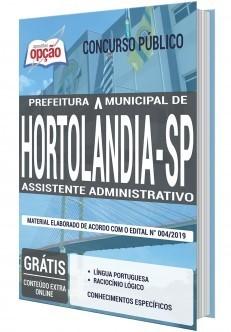 Apostila Concurso Prefeitura de Hortolândia 2019 Assistente Administrativo PDF e Impressa