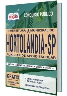 Apostila Concurso Prefeitura de Hortolândia 2019 Auxiliar de Apoio Escolar PDF e Impressa