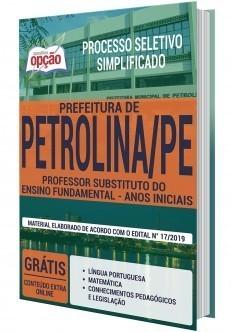 Apostila Concurso Prefeitura de Petrolina 2019 PDF e Impressa