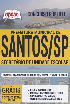 Apostila Concurso Prefeitura de Santos 2019 PDF e Impressa