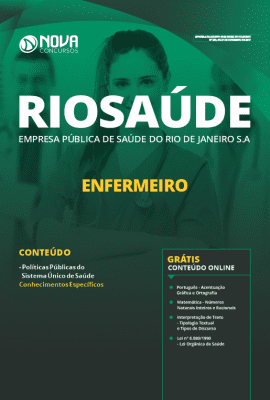 Apostila Concurso RIOSAÚDE 2019 Enfermeiro Grátis Cursos Online
